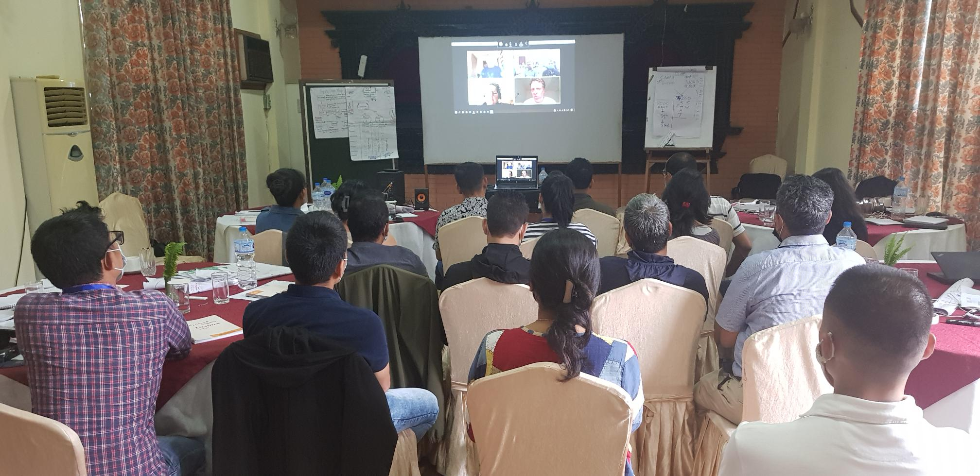 A photo of LLA students who attended Humanitarian Logistics training in Nepal
